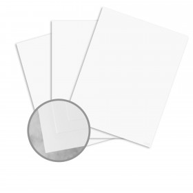 Basis Antique Vellum White Card Stock - 8 1/2 x 11 in 80 lb Cover Vellum 250 per Package