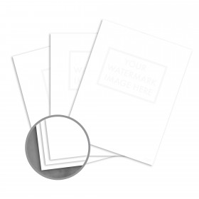 Loop 25% Cotton Pure White Paper - 8 1/2 x 11 in 24 lb Writing Light Cockle  30% Recycled  25% Cotton Watermarked 5000 per Carton
