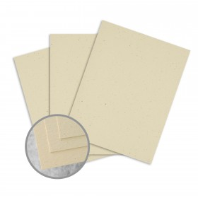 Loop Antique Vellum Husk Card Stock - 23 x 35 in 80 lb Cover Antique Vellum  100% Recycled 500 per Carton