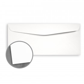 Loop Feltmark Pure White Envelopes - No. 10 Square Flap (4 1/8 x 9 1/2) 80 lb Text Feltmark  30% Recycled 500 per Box
