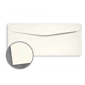 Loop Laid Ivory Envelopes - No. 10 Commercial (4 1/8 x 9 1/2) 24 lb Writing Laid  100% Recycled 500 per Box