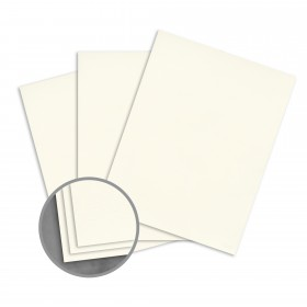 Loop Laid Ivory Card Stock - 26 x 40 in 80 lb Cover Laid  100% Recycled 500 per Carton