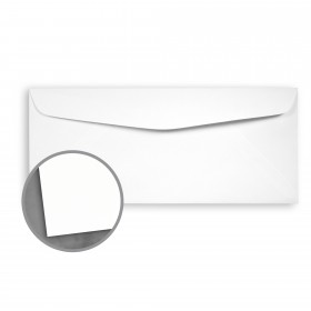 Loop Laid Pure White Envelopes - No. 10 Commercial (4 1/8 x 9 1/2) 24 lb Writing Laid  30% Recycled 500 per Box