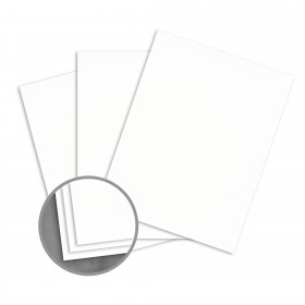 Loop Laid White Card Stock - 26 x 40 in 80 lb Cover Laid  100% Recycled 500 per Carton
