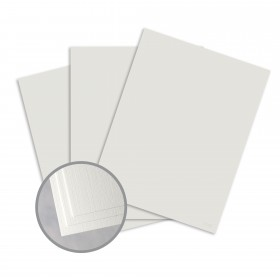 Loop Linen Gray Card Stock - 8 1/2 x 11 in 80 lb Cover Linen  50% Recycled 250 per Package