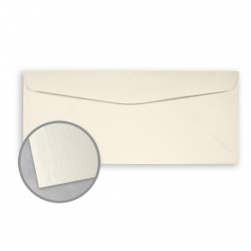 Loop Linen Ivory Envelopes - No. 10 Commercial (4 1/8 x 9 1/2) 24 lb Writing Linen  100% Recycled 500 per Box