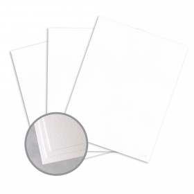 Loop Linen Pure White Paper - 23 x 35 in 70 lb Text Linen  30% Recycled 1200 per Carton