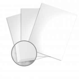 Loop Silk Coated White Card Stock - 20 x 26 in 80 lb Cover Silk Coated C/2S  50% Recycled 1000 per Carton