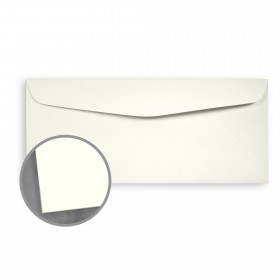 Loop Smooth Ivory Envelopes - No. 10 Commercial (4 1/8 x 9 1/2) 24 lb Writing Smooth  100% Recycled 500 per Box