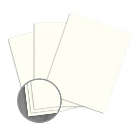 Loop Smooth Ivory Card Stock - 8 1/2 x 11 in 80 lb Cover Smooth  100% Recycled 250 per Package