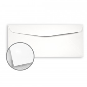 Loop Smooth White Envelopes - No. 10 Commercial (4 1/8 x 9 1/2) 24 lb Writing Smooth  100% Recycled 500 per Box