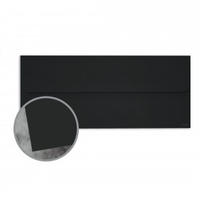 Manila File Black Envelopes - No. 10 Square Flap (4 1/8 x 9 1/2) 70 lb Text Extra Smooth 25 per Box