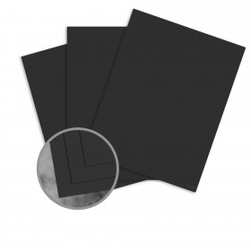 Manila File Black Card Stock - 8 1/2 x 11 in 80 lb Cover Extra Smooth 25 per Package