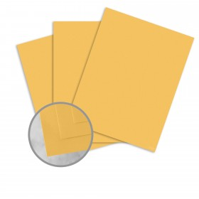 Manila File Gold Card Stock - 8 1/2 x 11 in 80 lb Cover Extra Smooth 25 per Package