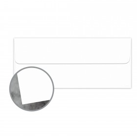 Manila File White Envelopes - No. 10 Square Flap (4 1/8 x 9 1/2) 70 lb Text Extra Smooth 500 per Box