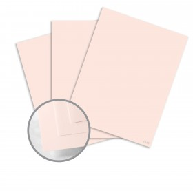 Neenah Cotton Blush Card Stock - 8 1/2 x 11 in 110 lb Cover Smooth 100% Cotton 125 per Package