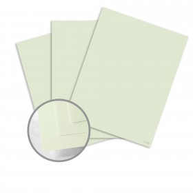 Neenah Cotton Mint Card Stock - 8 1/2 x 11 in 110 lb Cover Smooth 100% Cotton 125 per Package