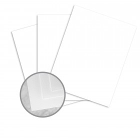 Neutech PS Pure White Card Stock - 8 1/2 x 11 in 80 lb Cover Wove 250 per Package