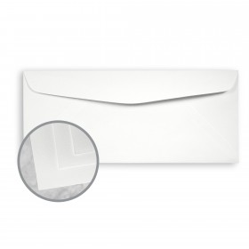 Neutech Cotton White  Envelopes - No. 10 Commercial (4 1/8 x 9 1/2) 24 lb Writing Wove  25% Cotton Watermarked 500 per Box
