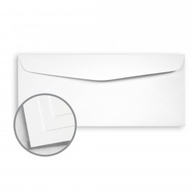 Options Crystal White Envelopes - No. 10 Commercial (4 1/8 x 9 1/2) 70 lb Text Smooth 500 per Box