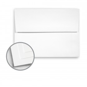 Options Crystal White Envelopes - A6 (4 3/4 x 6 1/2) 70 lb Text Smooth 250 per Box