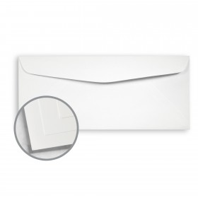 Options 100% PC Cool White Envelopes - No. 10 Commercial (4 1/8 x 9 1/2) 70 lb Text Smooth  100% Recycled 500 per Box