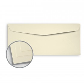 Options 100% PC Cream White Envelopes - No. 10 Commercial (4 1/8 x 9 1/2) 70 lb Text Smooth  100% Recycled 500 per Box