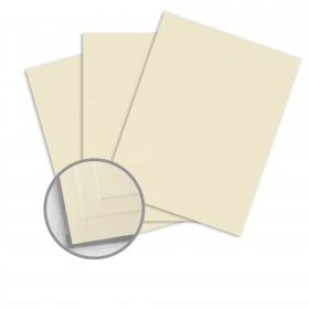 Options 100% PC Cream White Card Stock - 23 x 35 in 80 lb Cover Smooth  100% Recycled 500 per Carton
