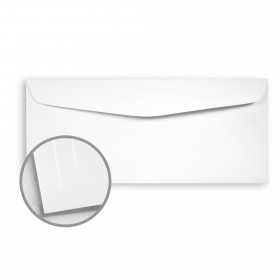 Options 100% PC White Envelopes - No. 10 Commercial (4 1/8 x 9 1/2) 70 lb Text Smooth  100% Recycled 500 per Box