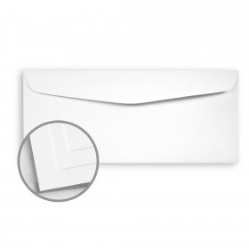 Options True White 96 Envelopes - No. 10 Commercial (4 1/8 x 9 1/2) 70 lb Text Smooth  30% Recycled 500 per Box