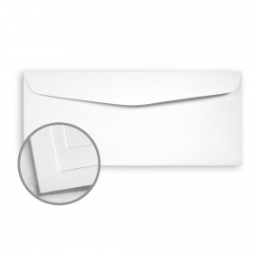 Options True White 96 Envelopes - No. 10 Commercial (4 1/8 x 9 1/2) 70 lb Text Vellum  30% Recycled 500 per Box