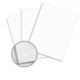Options True White 96 Card Stock - 23 x 35 in 65 lb Cover Vellum  30% Recycled 750 per Carton