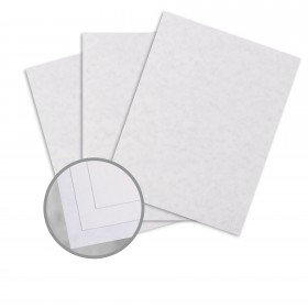 Parchtone Fleece White Card Stock - 8 1/2 x 11 in 65 lb Cover Semi-Vellum 250 per Package