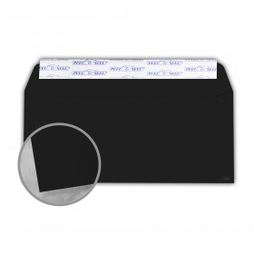Plike Black Envelopes - No. 10 Commercial Peel & Seal (4 1/8 x 9 1/2) 95 lb Text Smooth C/2S 400 per Box