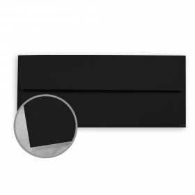 Plike Black Envelopes - No. 10 Square Flap (4 1/8 x 9 1/2) 95 lb Text Smooth C/2S 400 per Box