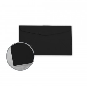Plike Black Envelopes - No. 6 3/4 Regular (3 5/8 x 6 1/2) 95 lb Text Smooth C/2S 400 per Box