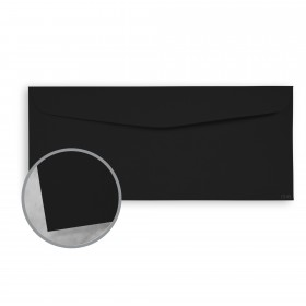 Plike Black Envelopes - No. 9 Regular (3 7/8 x 8 7/8) 95 lb Text Smooth C/2S 400 per Box