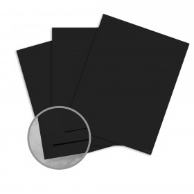 Plike Black Card Stock - 28.3 x 40.2 in 122 lb Cover Smooth C/2S 50 per Package
