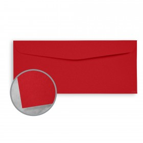 Plike Red Envelopes - No. 10 Commercial (4 1/8 x 9 1/2) 95 lb Text Smooth C/2S 400 per Box