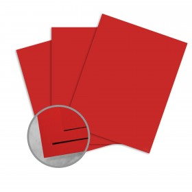 Plike Red Card Stock - 28.3 x 40.2 in 122 lb Cover Smooth C/2S 50 per Package