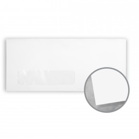 Plike White Envelopes - No. 10 Window (4 1/8 x 9 1/2) 95 lb Text Smooth C/2S 400 per Box