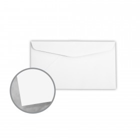 Plike White Envelopes - No. 6 3/4 Regular (3 5/8 x 6 1/2) 95 lb Text Smooth C/2S 400 per Box