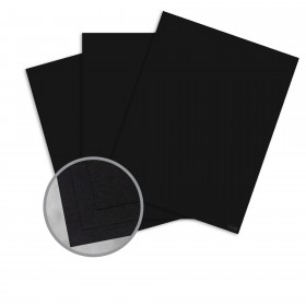 Pop-Tone Black Licorice Card Stock - 8 1/2 x 11 in 65 lb Cover Vellum 250 per Package