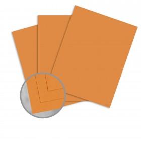 Pop-Tone Orange Fizz Card Stock - 8 1/2 x 11 in 65 lb Cover Vellum 250 per Package