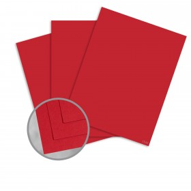 Pop-Tone Red Hot Card Stock - 26 x 40 in 100 lb Cover Vellum 250 per Carton