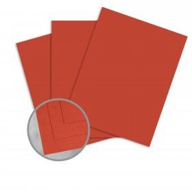 Pop-Tone Tangy Orange Card Stock - 8 1/2 x 11 in 65 lb Cover Vellum 250 per Package