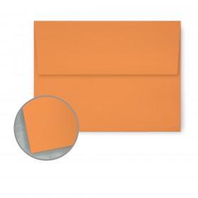 Pop-Tone Orange Fizz Envelopes - A7 (5 1/4 x 7 1/4) 70 lb Text Vellum   250 per Box