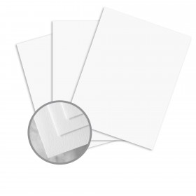 Royal Cotton Bright White Card Stock - 8 1/2 x 11 in 80 lb Cover Smooth  30% Recycled  25% Cotton 250 per Package