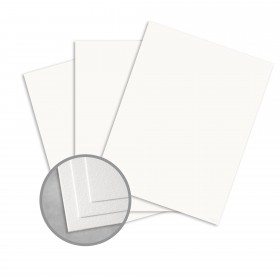 Royal Sundance 100 PC White Card Stock - 8 1/2 x 11 in 80 lb Cover Felt  100% Recycled 250 per Package