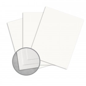 Royal Sundance 100 PC White Card Stock - 8 1/2 x 11 in 80 lb Cover Laid  100% Recycled 250 per Package